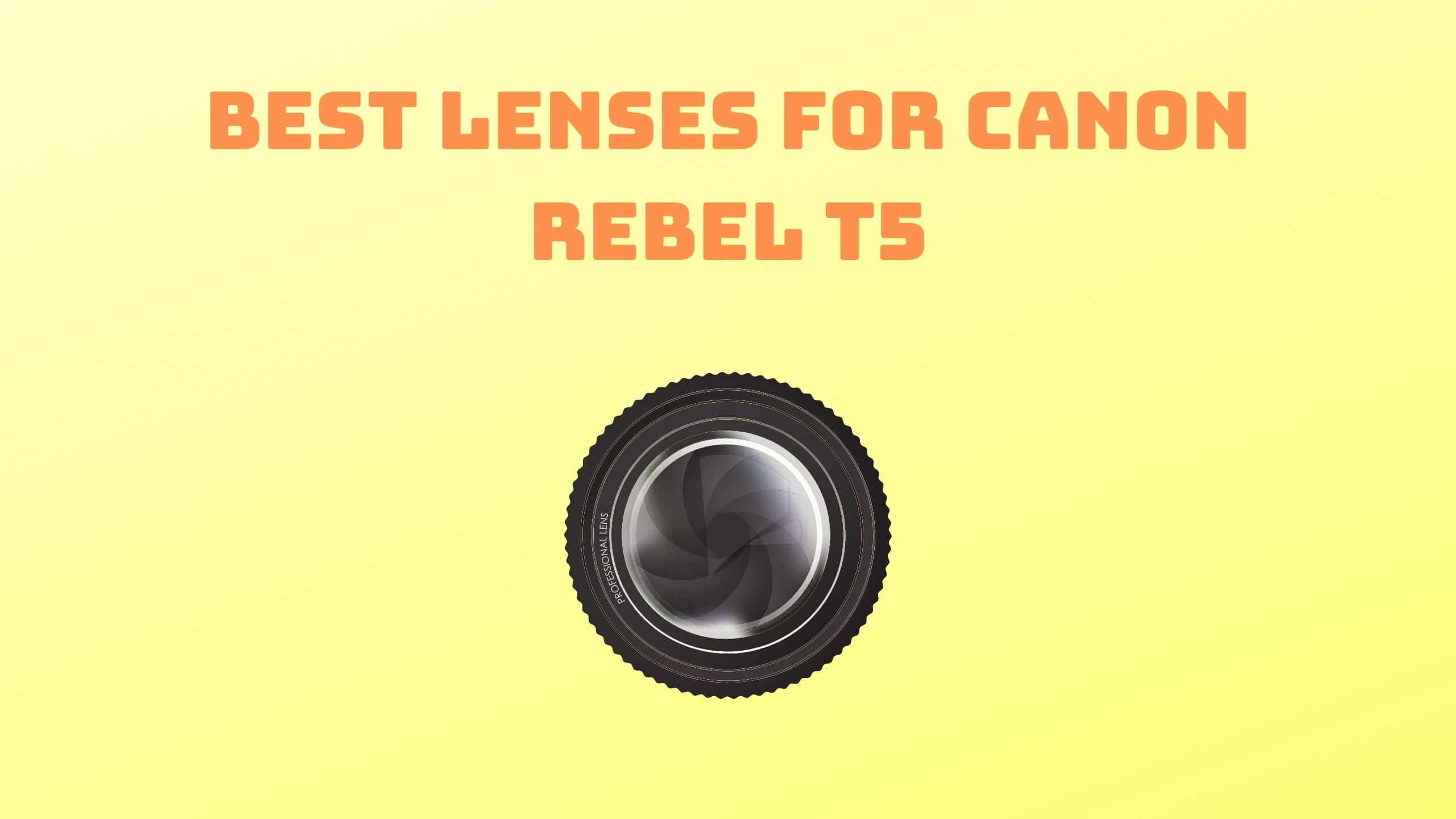 Best Lenses for Canon Rebel T5