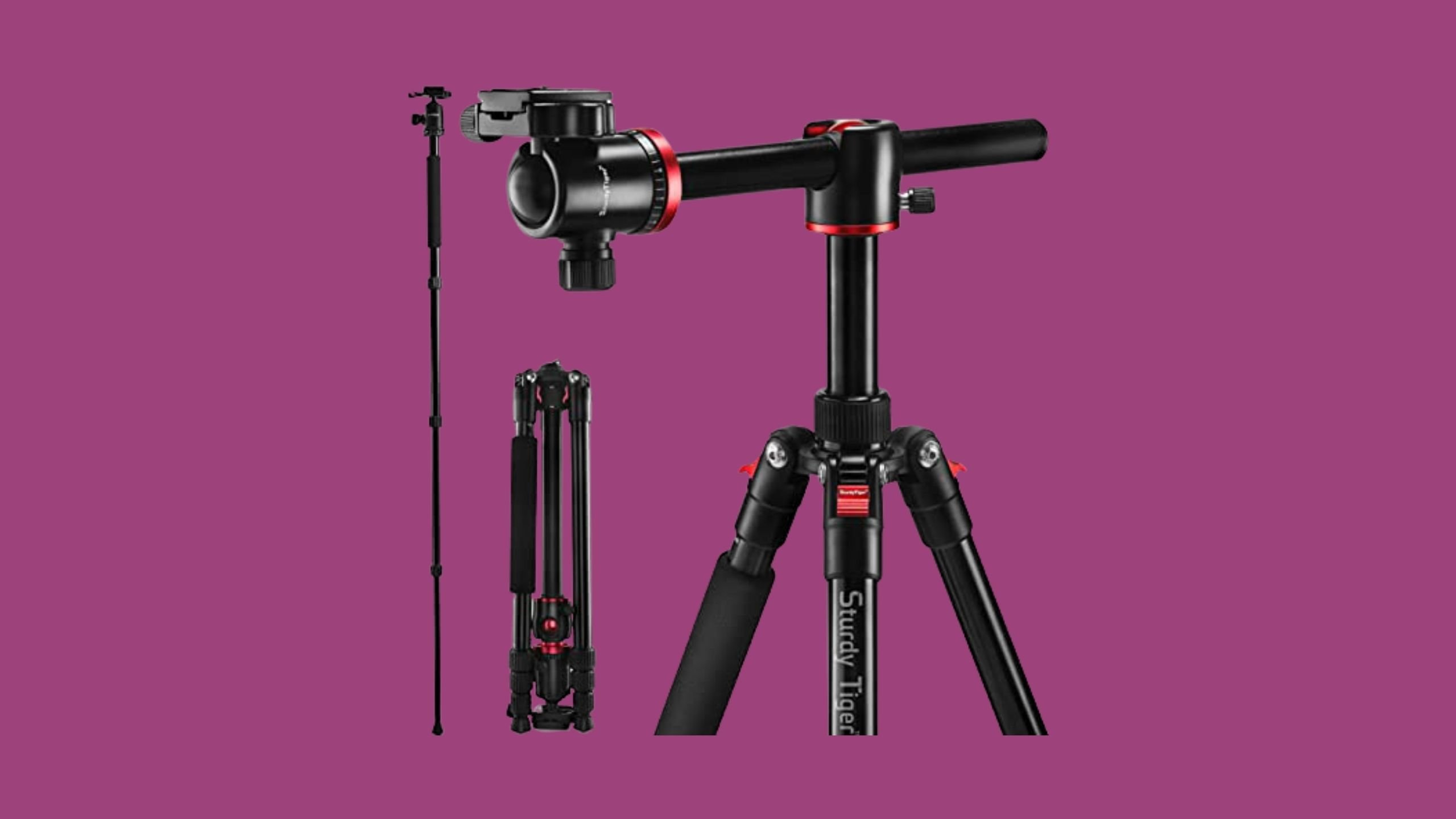 "STURDY TIGER 75"" Camera Tripod"
