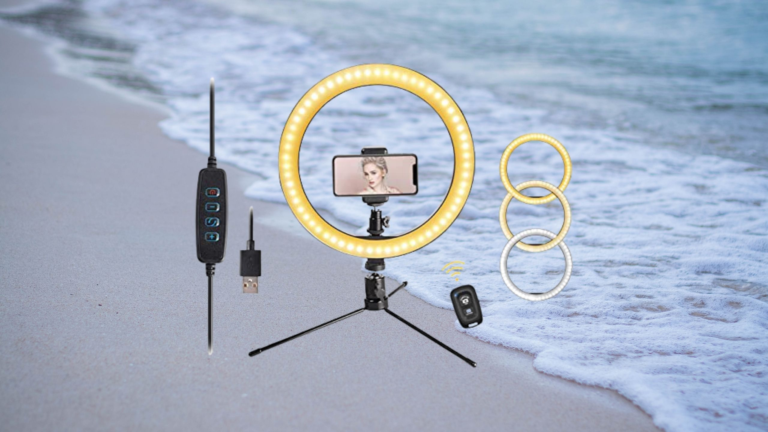 LED 10.2″ Desktop Selfie Ring Light