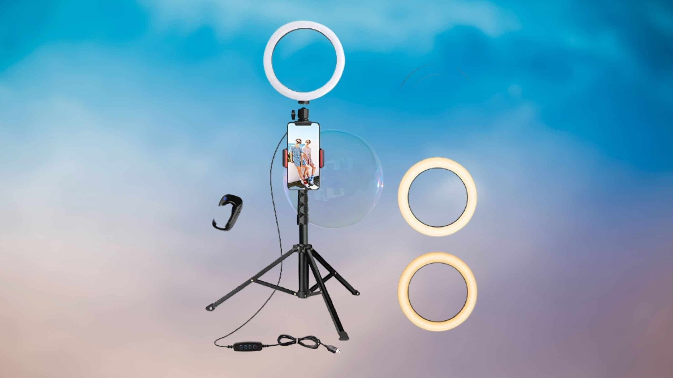 8″ Selfie Ring Light with Tripod Stand