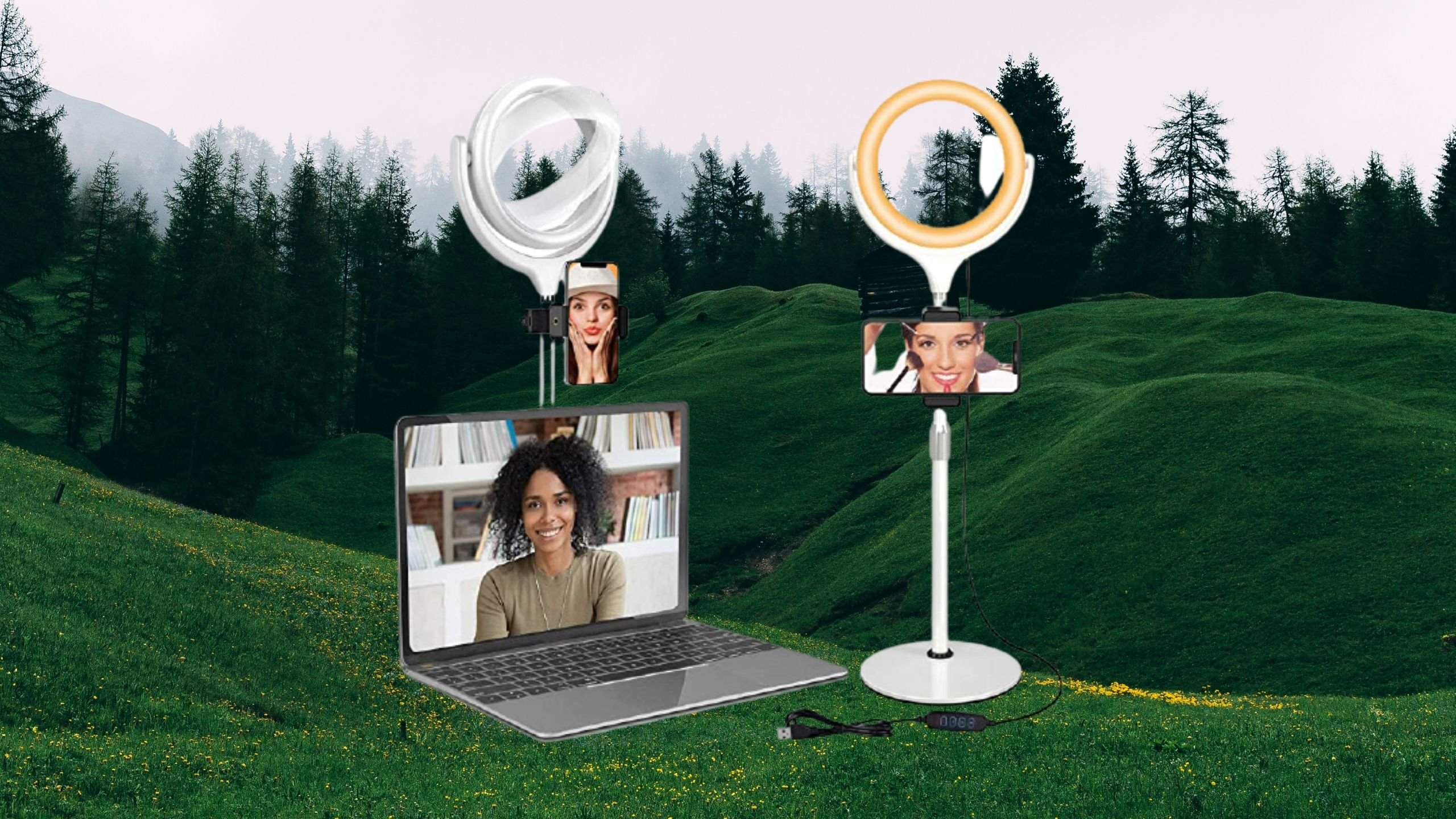 Yarrashop LED Selfie Ring Light with Stand