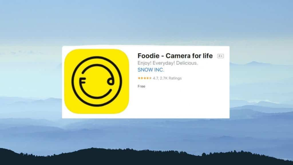 Foodie best photo editing app