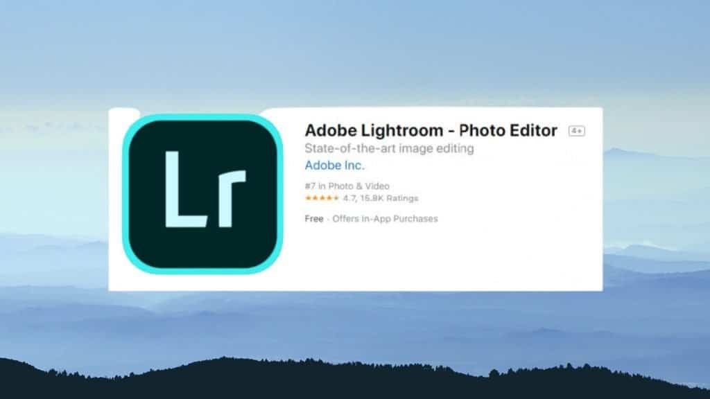 Adobe Lightroom best photo editing app