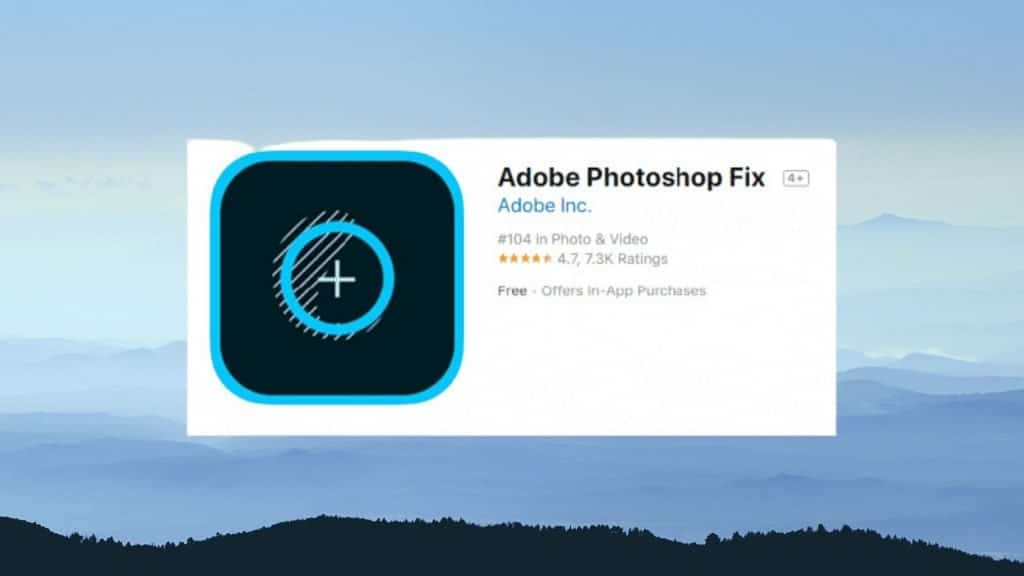 Adobe Photoshop Fix best photo editing app