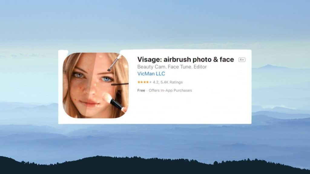 Visage best photo editing app