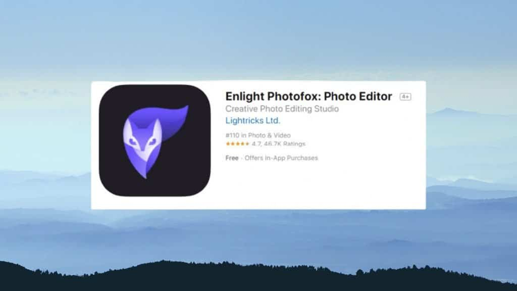 Enlight Photofox best photo editing app