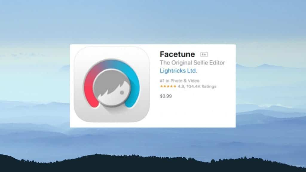 Facetune best photo editing app