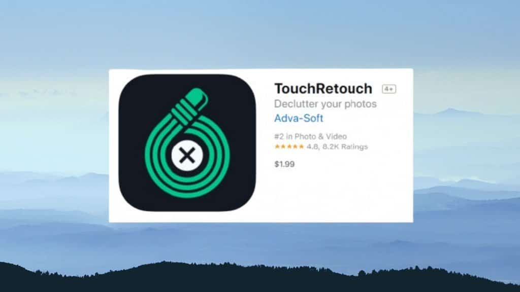 TouchRetouch best photo editing app