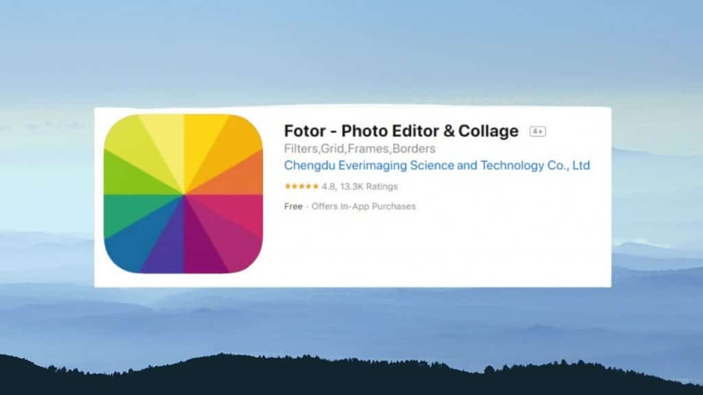 Fotor best photo editing app