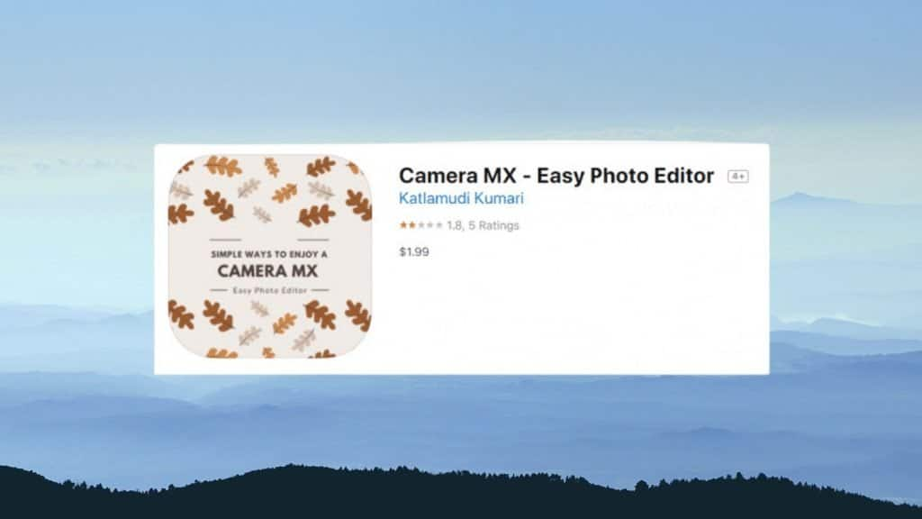 Camera MX best photo editing app