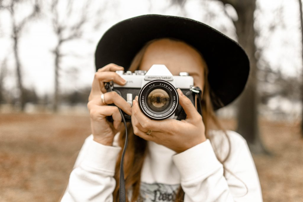 photographer in front of camera