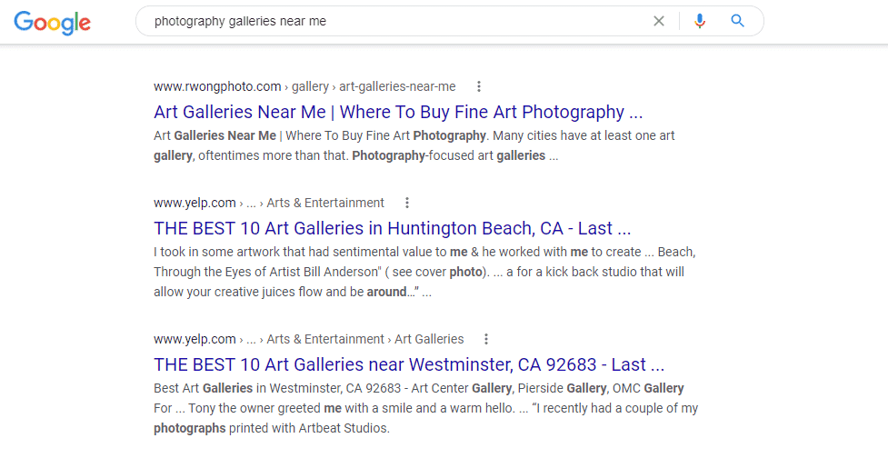 photography gallery near me