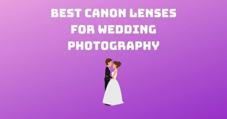 Best Canon Lenses for Wedding Photography
